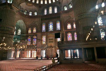 Die Blaue Moschee, optisch wunderschön, der Geruch ... na ja
