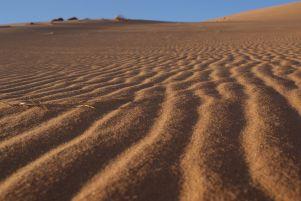 Auch der Wind zeichnet Bilder in den Sand.