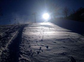 Schnee und Sonne - eine traumhafte Kombination.