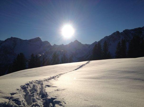 Endlich am Gipfel - die Nachmittagssonne freut sich mit uns.