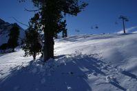 Im Skigebiet.