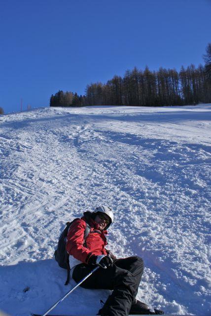 Erschöpfter Skigebietschecker!