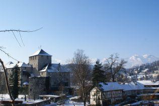 Die Schattenburg, das Wahrzeichen von Feldkirch.