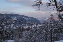 Der Ardetzenberg und die Stadt Feldkirch - tief verschneit.