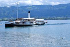 Die Hohentwiel - der Raddampfer ist das älteste Schiff am Bodensee.