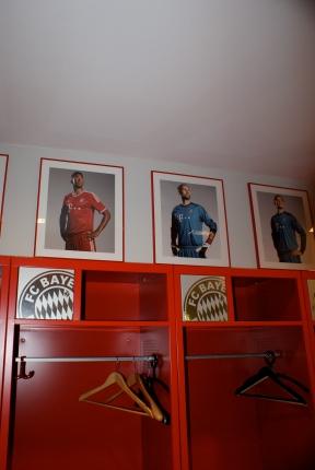David Alaba - der aktuell beste Spieler Österreichs, hat in der Bayern Kabine einen fixen Platz.