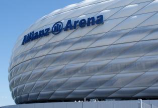 Die Allianz-Arena - Heimstätte von Bayern München und 1860 München.