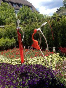 Nicht nur Blumen, auch Kunst rahmte das Querbeet-Festival ein.