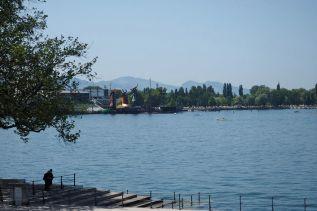 Die Seebühne - hier finden jedes Jahr die berühmten Bregenzer Festspiele statt.