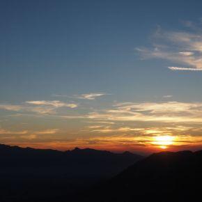 Sonnenuntergang auf derFrassenhütte