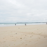 Wenn das Wasser weicht hat Saint Malo einen gewaltigen Sandstrand.