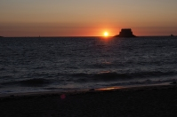 Der erste Sonnenuntergang in Saint Malo.