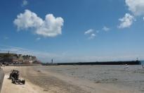 Der Hafen von Cancale ...