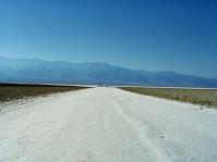 Die Salzablagerungen sind am tiefsten Punkt des Death Valley.