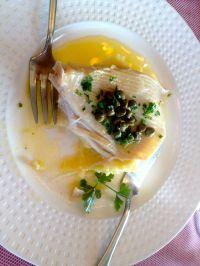 Rochen in einer feinen zitronigen Sauce im Table d'Henri.