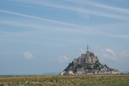 Der berühmte Klosterberg in der Normandie.