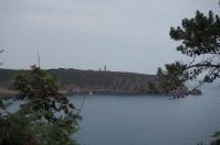 Der Blick zurück zum Leuchtturm von Cap Fréhel.