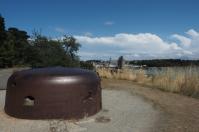 Die Bunker verkünden von der blutigen Geschichte des Orts.