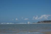 Die Surfer Jerseys treffen sich in der St. Ouens Bay.