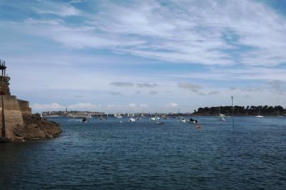 Blick von Dinard nach Saint Malo.