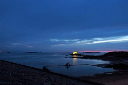 Sonnenuntergang in Saint Malo.