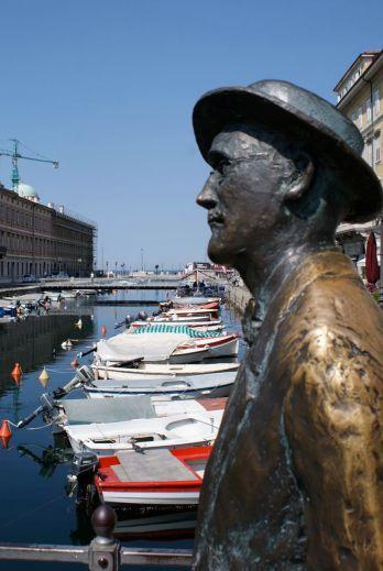 James Joyce - am Triester Canale Grande verewigt.