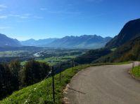 Blick Richtung Liechtenstein und südliches St. Galler Rheintal.