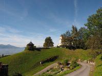 Zurück am Ausgangspunkt, bei der Kirche des Kloster Viktorsberg.