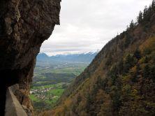 Blick hinunter ins Rheintal.