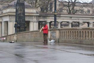 Straßenmusikant auf der Museumsinsel