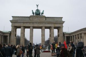 Trubel am Brandenburger Tor.