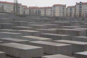 Die Stelen des Denkmal für die ermordeten Juden.