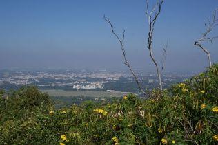 Blick hinunter nach Mysore.