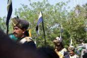 Diese Reiter trugen die Uniformen der Palastwachen des Maharajas von Mysore.