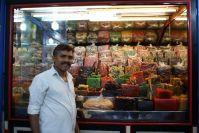 Süssigkeitenhändler in Kalikut.