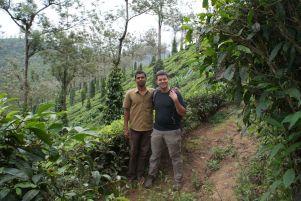 Dieser nette Rikscha-Fahrer zeigte uns später die Teeplantagen von Kumily.