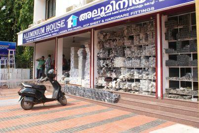 Zum Beispiel - Aluprofile (alle Fotos aus Kochi)