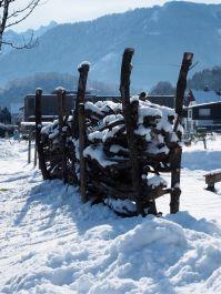 Tiefverschneite Eindrücke aus der Montfortstadt.