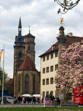 Die Stuttgarter Stiftskirche im Zentrum der Stadt.