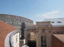Die Kunsthalle und das Mumok - moderne und klassische Architektur treffen aufeinander.