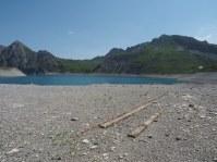 Spuren am See-Grund
