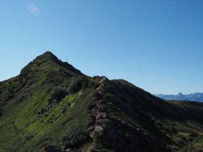 Knapp vor dem Gipfel des Portla-Horn