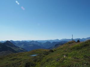 Das Gipfelkreuz am Portla-Horn.