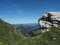 Erste Blicke Richtung Deutschland und Bodensee.