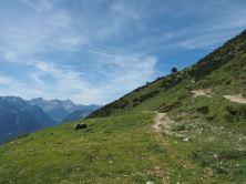 Vom Tiefenseesattel Richtung hoher Frassen/ Frassenhütte