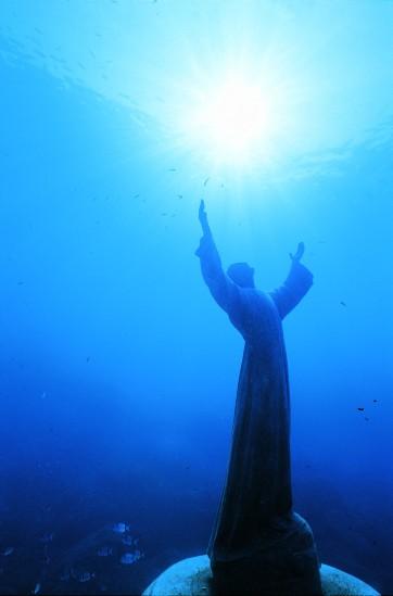 Cristo degli abissi - beliebtes Tauchziel bei San Fruttuoso. (Foto von Ligurien Tourismus zur Verfügung gestellt)