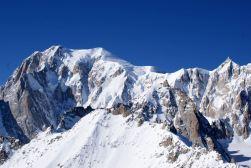 Der Mont Blanc - unspektakulär und doch beeindruckend.