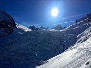Beeindruckender Gletscherbruch direkt bei der Rast bei der Refuge du Requin.