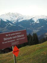 Die Skiroute ist ganz offensichtlich gesperrt.
