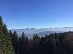 Blick vom Pfänder in Richtung Bregenzer Wald.
